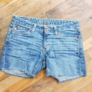 Big Star Honey Flare Jean shorts distressed 27R